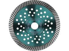 Extol Industrial Kotouč diamantový řezný turbo Fast Cut, 125x22,2mm, suché i mokré řezání
