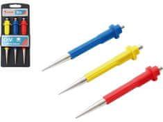 Extol Premium Důlčíky, sada 3ks, 0,8-1,5-2,5mm, délka 125mm, CrV