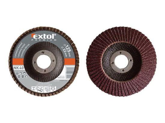 Extol Premium Kotúč lamelový šikmý, korund, 125mm, P60