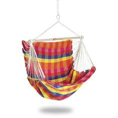 Spokey BENCH DELUXE KÁRO farebná Hojdacia sieť - sedátko pre dvoch, do 160 kg