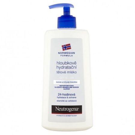 Neutrogena 24 H mélyhidratáló testápoló érzékeny bőrre (mennyiség 250 ml)