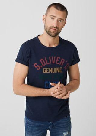 s.Oliver pánské tričko 13.907.32.7665 XXL tmavě modrá