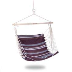Spokey BENCH Hojdacia sieť - sedátko, do 120 kg, hnedé pruhy