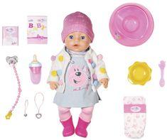 BABY born Soft touch dječja lutka s haljinom i jaknom, posebno zimsko izdanje, 43 cm