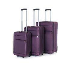 Pretty up TEX01 komplet potovalnih kovčkov, 3 kosi, S-L, vijolični