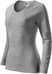 Malfini Dámske tričko s dlhými rukávmi a hlbším V-výstrihom