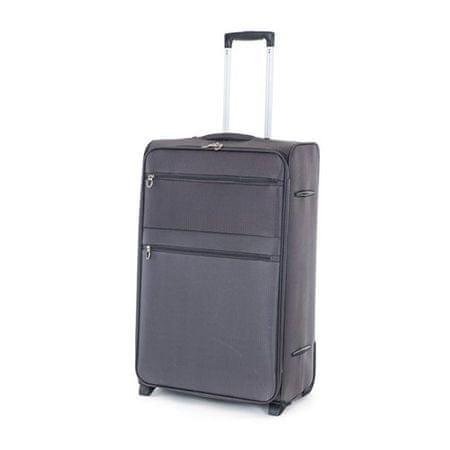 Pretty up Cestovný kufor TEX15, L, sivý