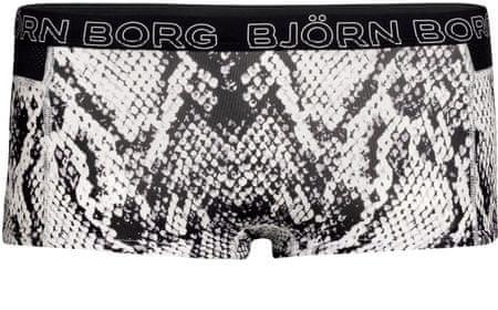 Björn Borg ženska športna majica Minishorts Bb Python 1P Jet Stream, 34, črna/bela