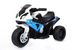 Beneo Elektrická trojkolka BMW S 1000 RR, Licencované, 6 V, kožené sedadlo, 1 motor, modré