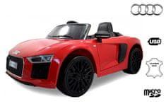 Beneo Elektrické autíčko Audi R8 Spyder, 12V, 2,4 GHz dálkové ovládání, otvíravé dveře, EVA kola