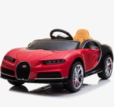 Beneo Elektrické autíčko Bugatti Chiron, 12V, 2,4 GHz dialkové ovládanie, otváravé dvere, EVA kolesá, kože