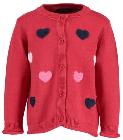 Blue Seven dievčenský sveter so srdiečkami 62 červená