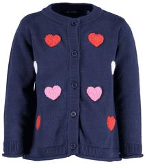 Blue Seven dievčenský sveter so srdiečkami