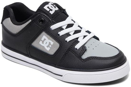 DC chlapecké tenisky Pure Elastic 33 šedá/černá
