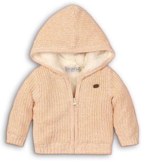 Dirkje dívčí svetr s kožíškem 110 béžová