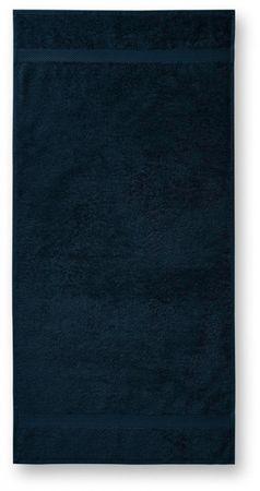 Malfini Tmavomodrý bavlnený uterák hrubší, 50x100cm