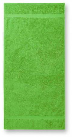 Malfini Jablkovo zelená bavlnená osuška hrubá, 70x140cm