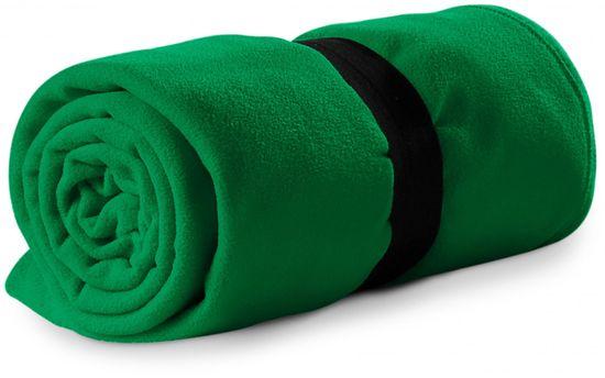 Piccolio Trávově zelená fleecová deka, 120x150cm