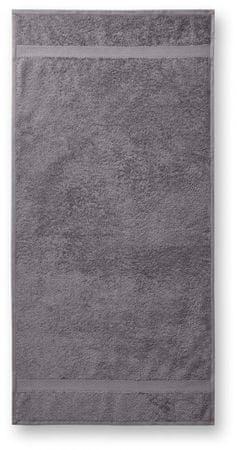Malfini Starostrieborná bavlnená osuška hrubá, 70x140cm
