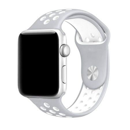 eses pasek do zegarka Apple Watch 38mm srebrny/biały