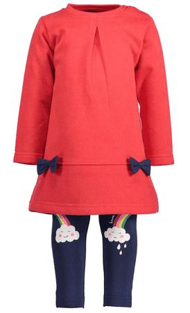 Blue Seven dievčenský set tuniky a legín 62 červená