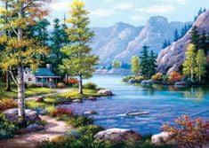 Art puzzle Puzzle Chata u jezera 2000 dílků