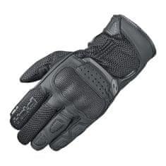 Held letné moto rukavice DESERT 2 čierna, koža/textil