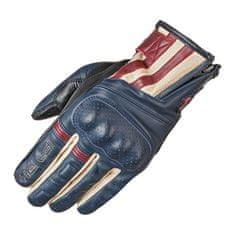 Held letní motocyklové rukavice PAXTON modrá/béžová/červená, kůže