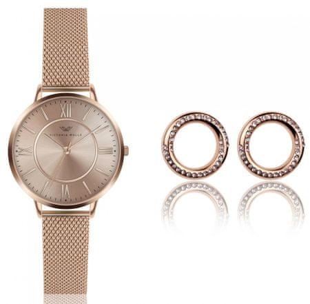 VictoriaWallsNY set dámskych hodiniek a náušníc VWS040