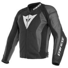 Dainese NEXUS pánska kožená bunda na motorku, čierna/sivá