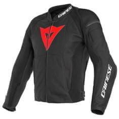 Dainese NEXUS pánska kožená bunda na motorku, čierna/červená