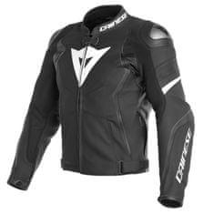 Dainese AVRO 4 pánská kožená bunda na motorku, černá matná/bílá