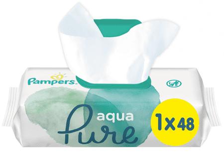 Pampers vlažilni robčki Aqua Pure, 48 kosov