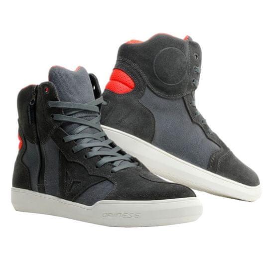 Dainese kotníkové boty METROPOLIS D-WP vel.39 karbon/fluo červená, kůže
