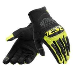 Dainese letní moto rukavice BORA černá/fluo žlutá, textil