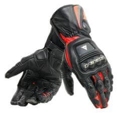 Dainese pánske rukavice na motorku STEEL-PRO čierna/fluo červená