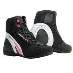 Dainese kotníkové dámské moto boty MOTORSHOE D1 LADY D-WP černá/bílá/růžová