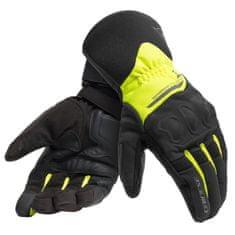 Dainese rukavice na motorku X-TOURER D-DRY černá/fluo-žlutá, textilní (pár)