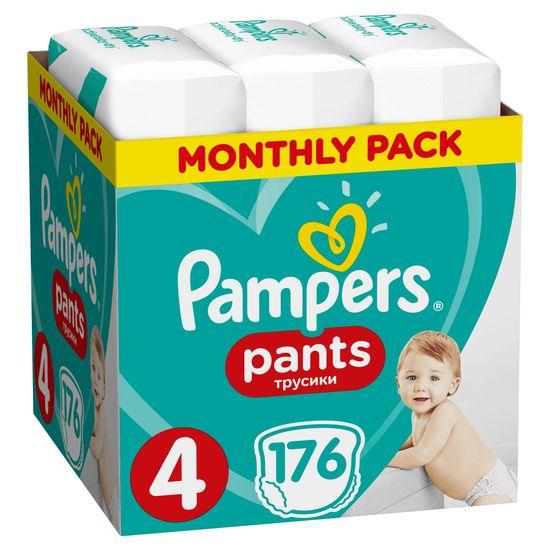 Pampers Pants 4 (9-15 kg) Plenkové kalhotky 176 ks - Měsíční balení