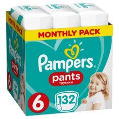 Pampers hlačne plenice Pants 6 (15+ kg) 132 kosov - Mesečno pakiranje