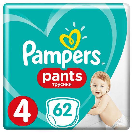 Pampers Pants 4 (9-15 kg) Giant Pack 62 ks