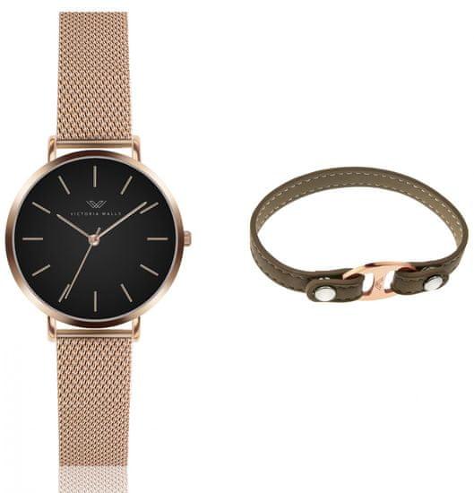 VictoriaWallsNY set dámskych hodiniek a náramku VWS041