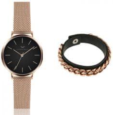VictoriaWallsNY set dámskych hodiniek a náramku VWS042