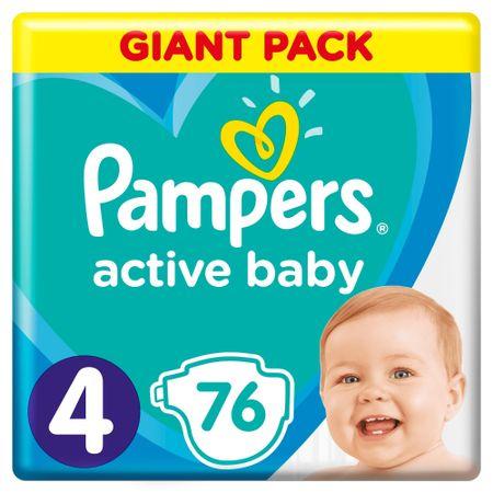 Pampers Active Baby 4 Maxi pelenka - 76 db