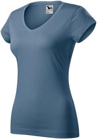 Malfini Denim dámské triko s hlubším V výstřihem