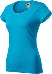 Malfini Dámske zúžené tričko s okrúhlym hlbším výstrihom