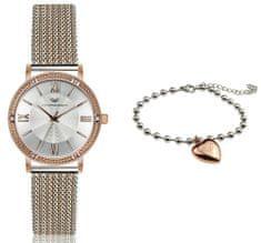 VictoriaWallsNY set dámskych hodiniek a náramku VWS043