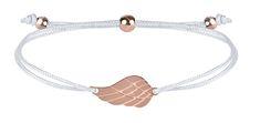 Troli Zapestnica iz vrvice z angelskimi krili, bela / bronasta