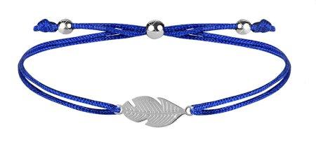 Troli Zapestnica z vrvico s perjem modra / jeklena