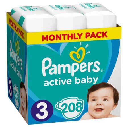 Pampers Active Baby 3 Midi Pelenka - 208 db
